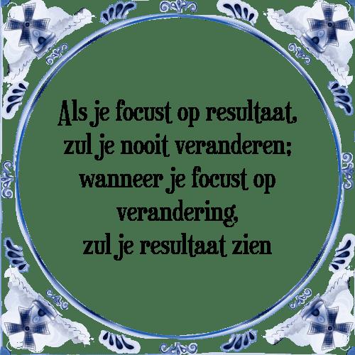 verandering spreuken Focus   Tegel + Spreuk | TegelSpreuken.nl verandering spreuken