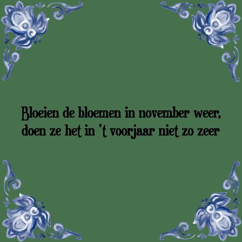 november spreuken Bloeien de bloemen   Tegel + Spreuk | TegelSpreuken.nl november spreuken