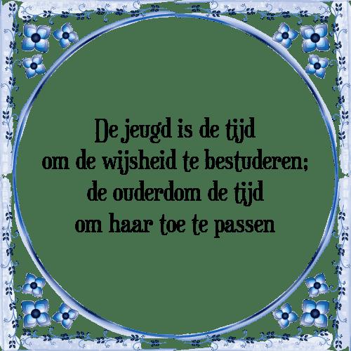 spreuken ouderdom Jeugd tijd   Tegel + Spreuk | TegelSpreuken.nl spreuken ouderdom