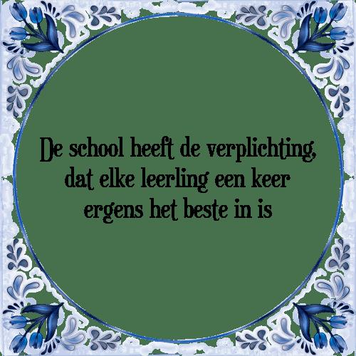 school spreuken School leerling   Tegel + Spreuk | TegelSpreuken.nl school spreuken