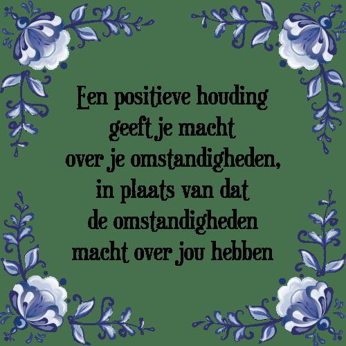 Verwonderlijk Positieve houding - Tegel + Spreuk | TegelSpreuken.nl KA-26