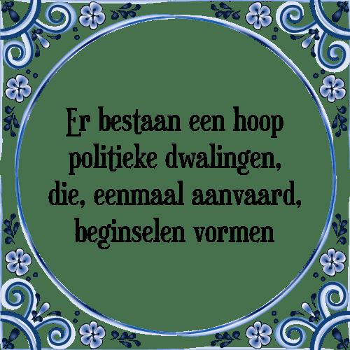 politieke spreuken Politieke dwalingen   Tegel + Spreuk | TegelSpreuken.nl politieke spreuken