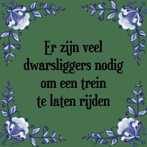 No Dig Com: Dwarsliggen - Tegel + Spreuk