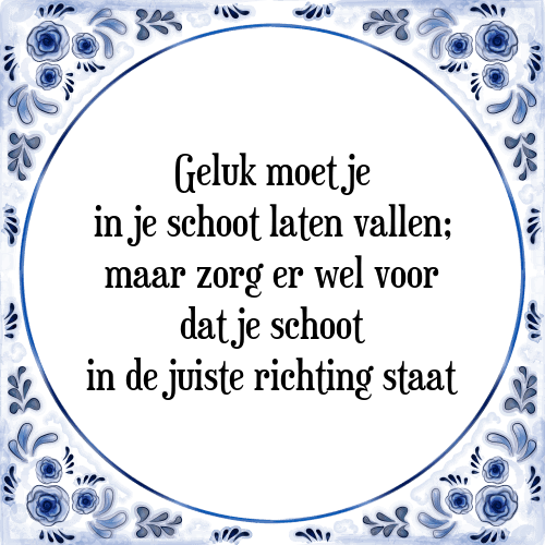 zorg spreuken Geluk schoot   Tegel + Spreuk | TegelSpreuken.nl zorg spreuken