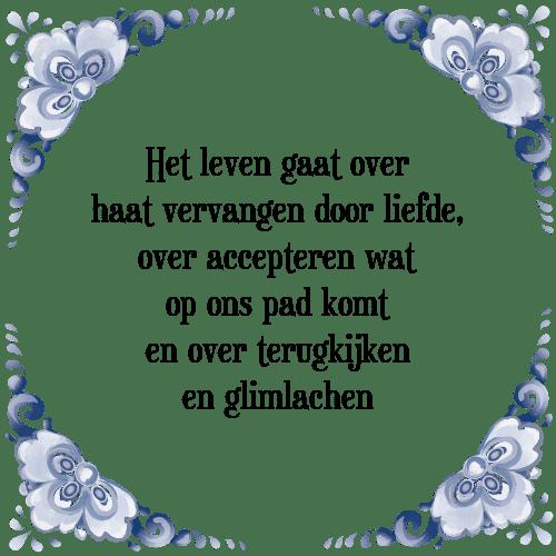 spreuken over leven Leven haat   Tegel + Spreuk | TegelSpreuken.nl spreuken over leven