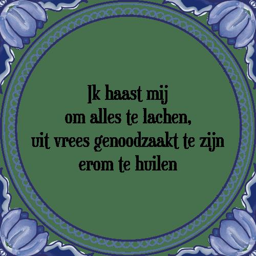 spreuken om te lachen Ik haast   Tegel + Spreuk | TegelSpreuken.nl spreuken om te lachen