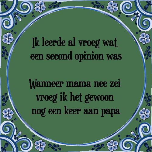 spreuken papa Ik leerde al vroeg   Tegel + Spreuk   TegelSpreuken.nl spreuken papa