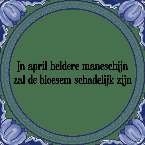 april spreuken Maneschijn   Tegel + Spreuk | TegelSpreuken.nl april spreuken