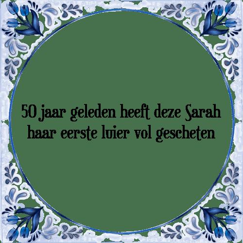 slogan sarah 50 jaar Spreuken Sarah 50 Jaar   ARCHIDEV slogan sarah 50 jaar