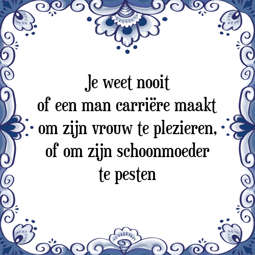 spreuken schoonmoeder Weet nooit   Tegel + Spreuk | TegelSpreuken.nl spreuken schoonmoeder