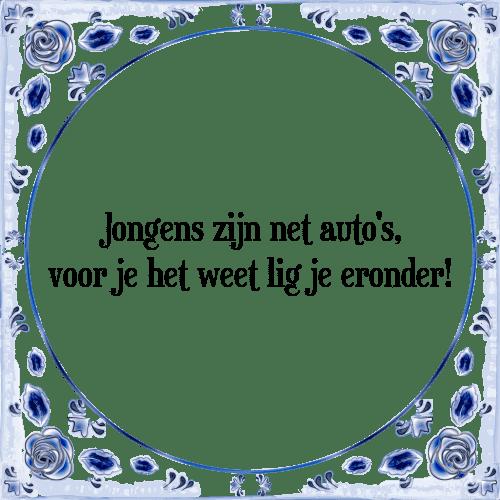 spreuken auto Jongens auto   Tegel + Spreuk | TegelSpreuken.nl spreuken auto