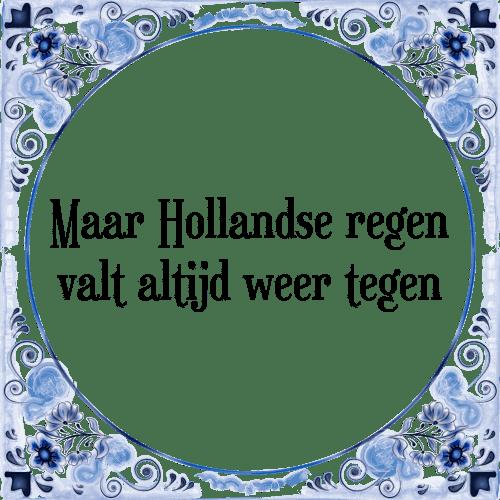 hollandse tegeltjes spreuken Hollandse regen   Tegel + Spreuk | TegelSpreuken.nl hollandse tegeltjes spreuken