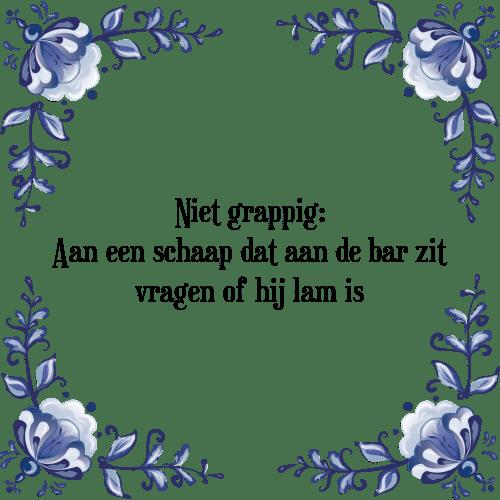 spreuken grappig Niet grappig 1   Tegel + Spreuk   TegelSpreuken.nl spreuken grappig