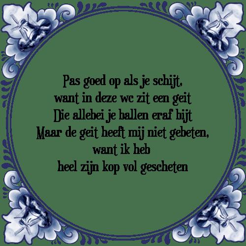 kop op spreuken Pas goed op   Tegel + Spreuk | TegelSpreuken.nl kop op spreuken