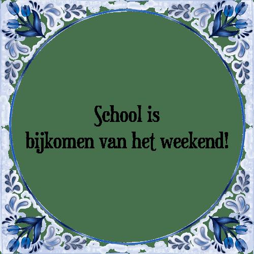 school spreuken School   Tegel + Spreuk | TegelSpreuken.nl school spreuken