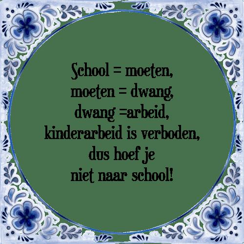 school spreuken School is   Tegel + Spreuk | TegelSpreuken.nl school spreuken