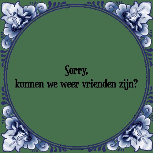sorry spreuken Sorry kunnen   Tegel + Spreuk | TegelSpreuken.nl sorry spreuken