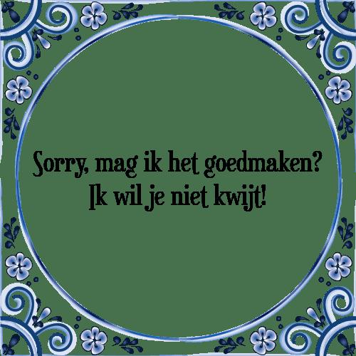 sorry spreuken Sorry mag   Tegel + Spreuk | TegelSpreuken.nl sorry spreuken