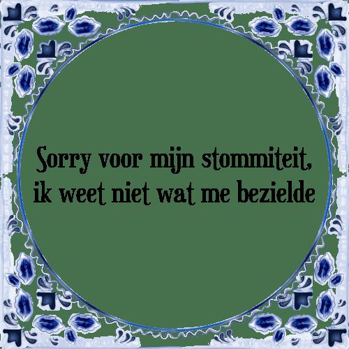 sorry spreuken Sorry   Tegel + Spreuk | TegelSpreuken.nl sorry spreuken