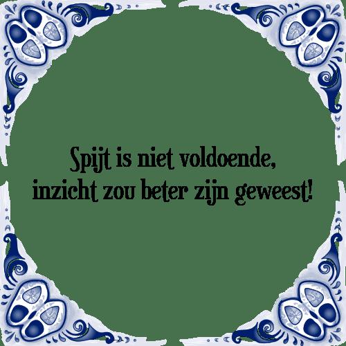 spijt spreuken Spijt is   Tegel + Spreuk | TegelSpreuken.nl spijt spreuken