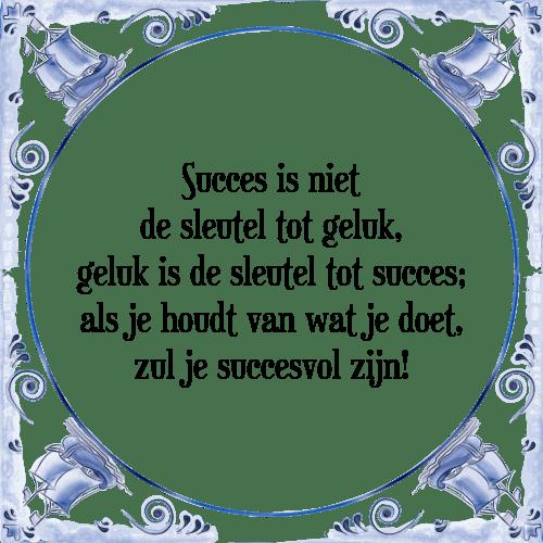 spreuken voor succes Succes is niet   Tegel + Spreuk | TegelSpreuken.nl spreuken voor succes