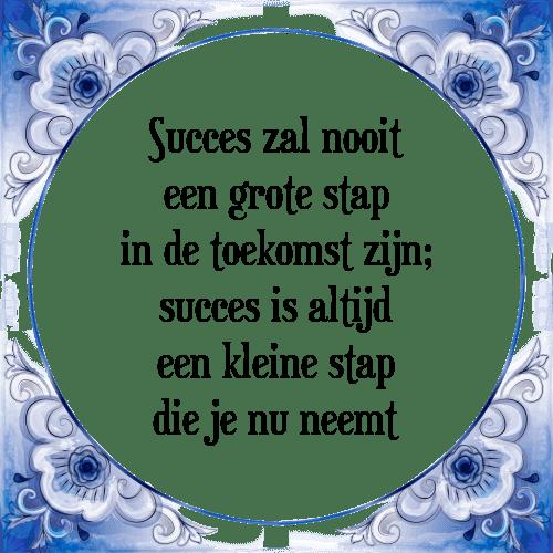spreuken voor succes Succes zal   Tegel + Spreuk | TegelSpreuken.nl spreuken voor succes