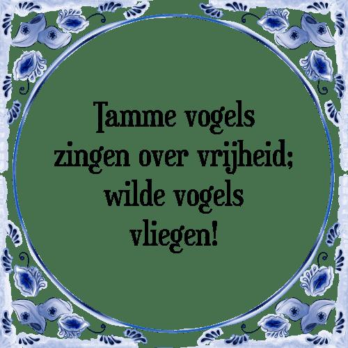 spreuken over vliegen Tamme   Tegel + Spreuk | TegelSpreuken.nl spreuken over vliegen