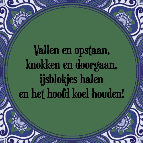 vallen en opstaan spreuken Vallen   Tegel + Spreuk | TegelSpreuken.nl vallen en opstaan spreuken
