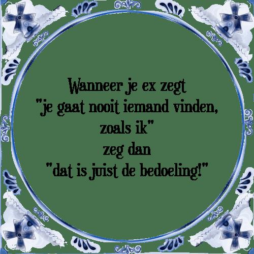 spreuken ex Wanneer ex   Tegel + Spreuk | TegelSpreuken.nl spreuken ex