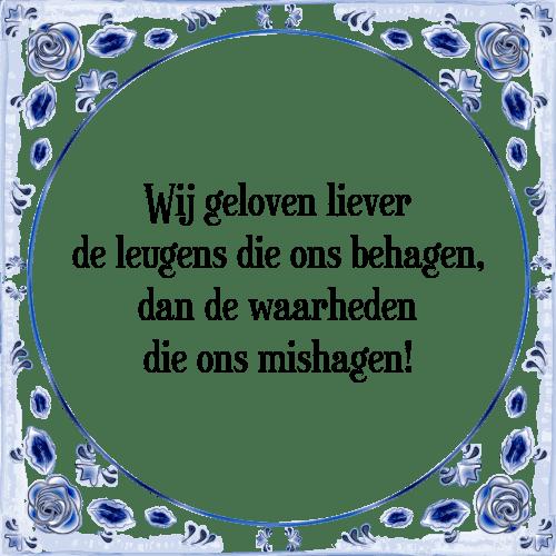 Wonderbaar Wij geloven liever - Tegel + Spreuk   TegelSpreuken.nl CR-14