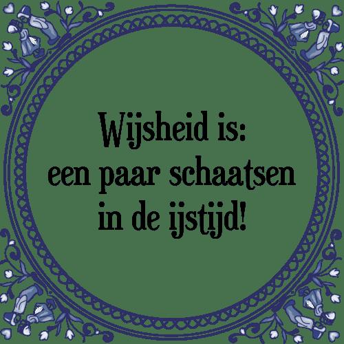 spreuken over schaatsen Wijsheid is een   Tegel + Spreuk | TegelSpreuken.nl spreuken over schaatsen
